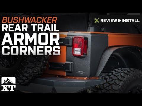 Jeep Wrangler Bushwacker Rear Trail Armor Corners (2007-2017 JK) Review & Install