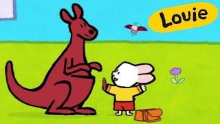 Cartoon for kids - Louie draw me a Kangaroo HD | Learn to draw
