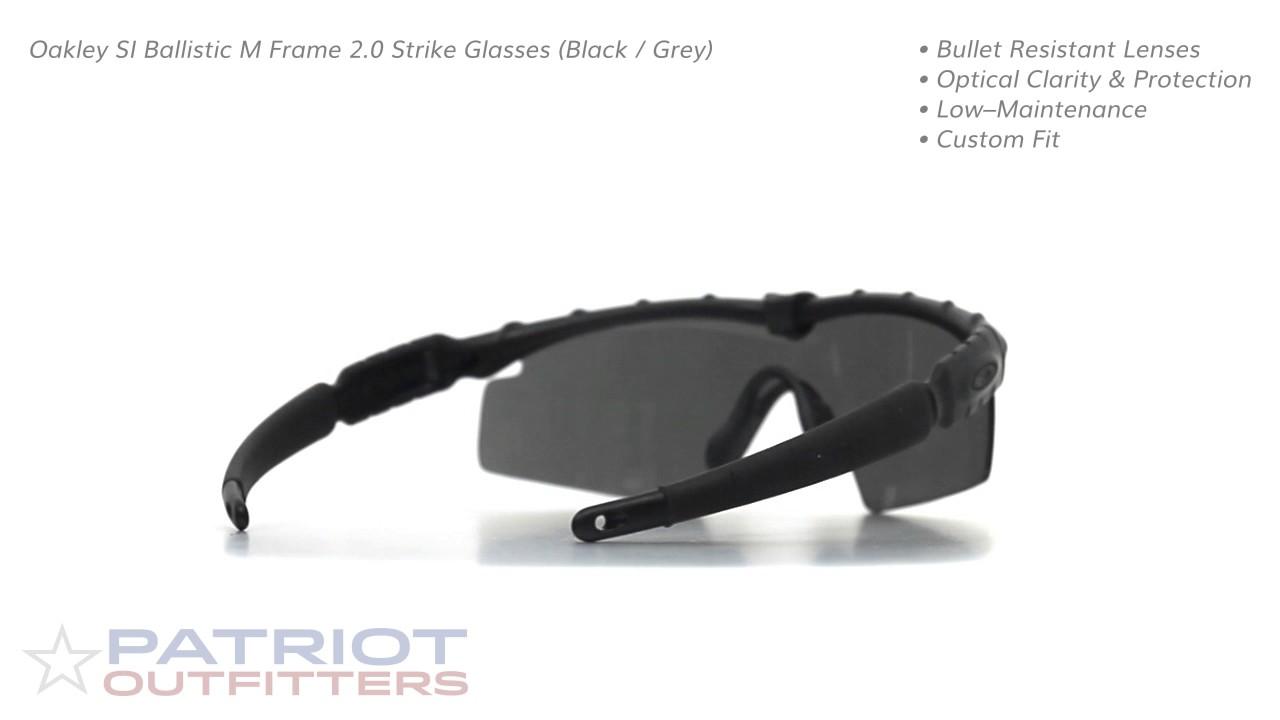 Oakley SI Ballistic M Frame 2.0 Strike Glasses (Black / Grey) - YouTube