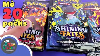 Depart the emotional train with 20 booster packs Pokemon TCG destined to sparkle ToyStation 574