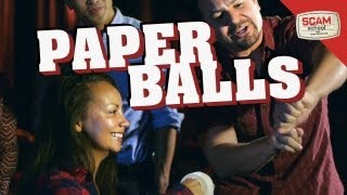Disappearing Paper Balls And Magically Appearing Beers!
