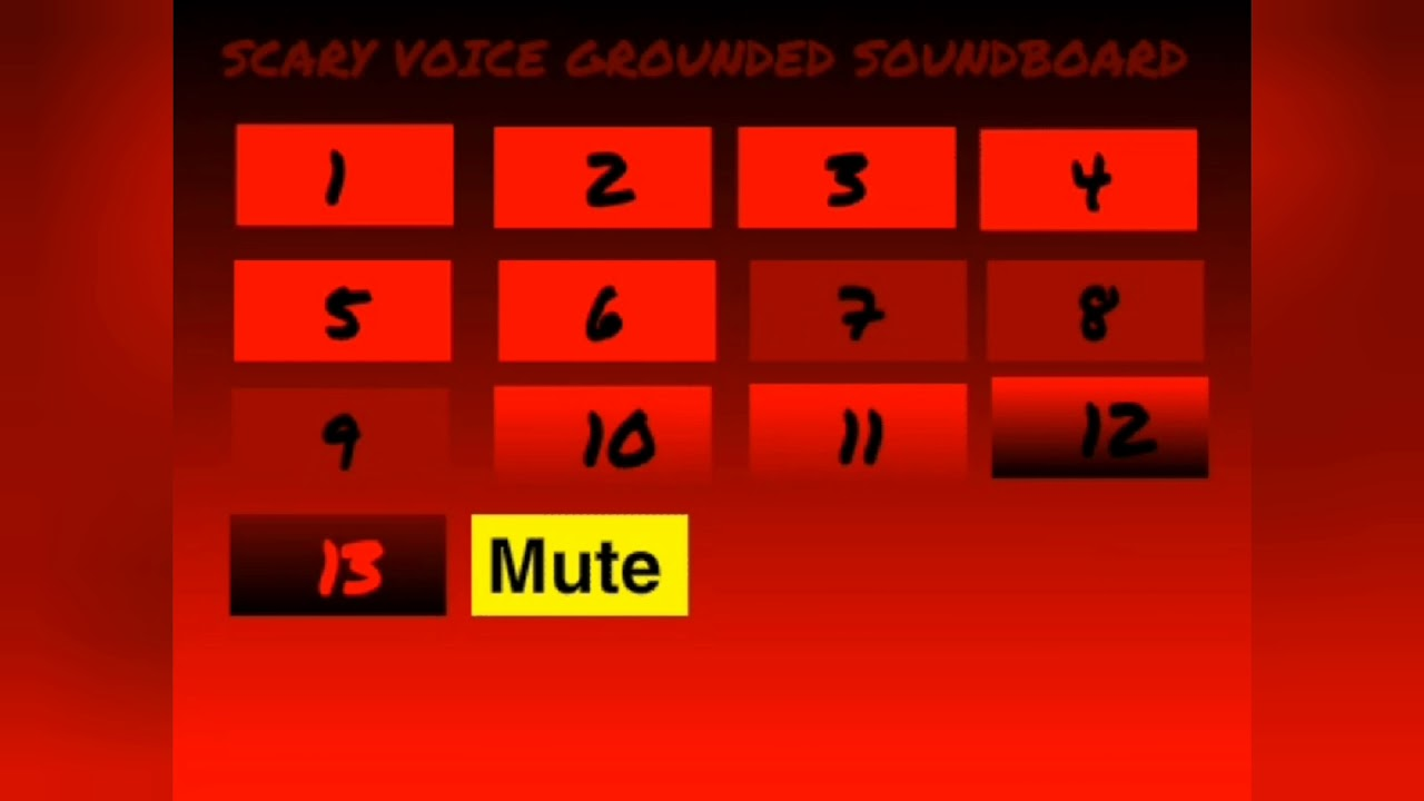 Scary Voice Grounded Soundboard