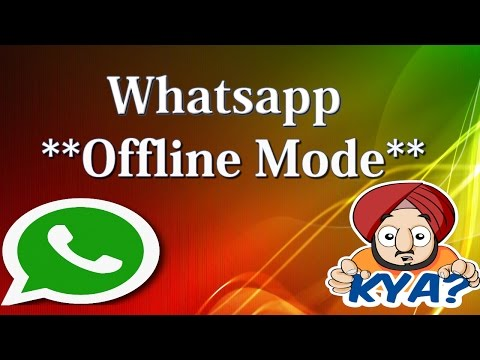 Whatsapp offline mode, Send messages without online ( No last seen Update) with Real proof