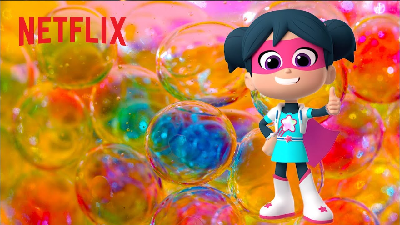 Learn Colors with StarBeam Slime & Bubbles 🎨 Netflix Jr