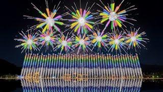 FWsim Mount Fuji Synchronized Fireworks Show6♪(Simulation)