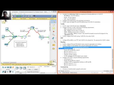3.5.1.2 Packet Tracer - Skills Integration Challenge