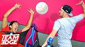 Trampoline Volleyball Challenge!!