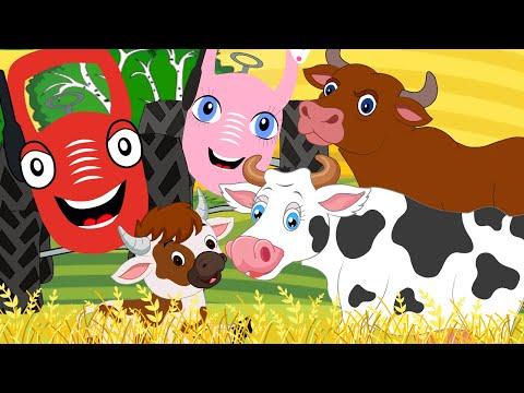 Мультфильм трактор на ферме