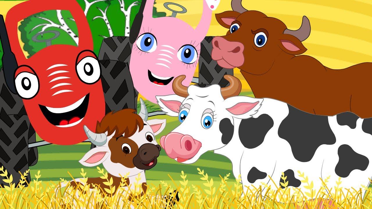 Животные – Песенка Мультик Как Акуленок - Тыр тыр трактор на ферме