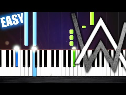 Alan Walker - Alone - EASY Piano Tutorial by PlutaX