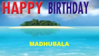 Madhubala   Card Tarjeta - Happy Birthday