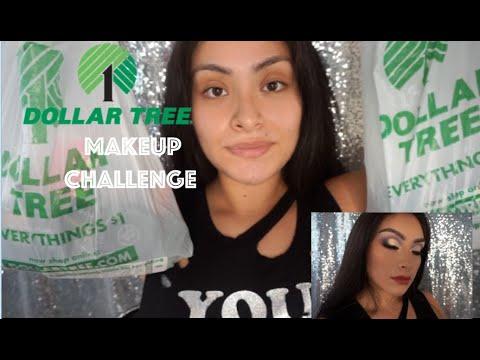 dollar tree makeup challenge + dollar tree haul 2018 thumbnail