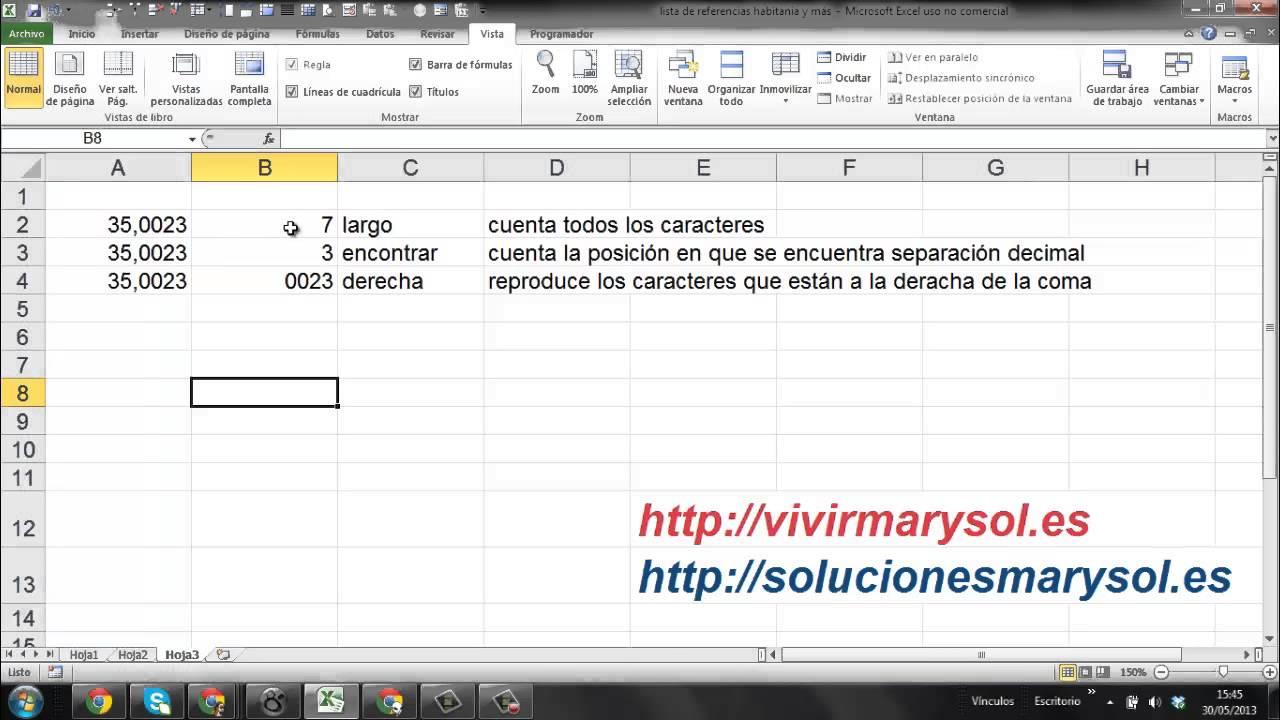 Excel 2010, separa la parte entera y decimal de un número, 2 de 2 ...