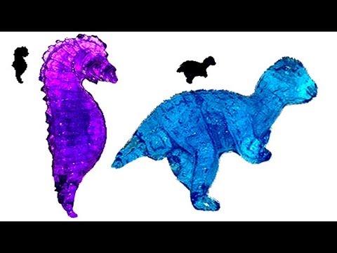 Jumbo Polymer Sea Horses and Dinosaurs ~ Incredible Science