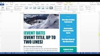 Microsoft Word - إنشاء نشرة إعلانية