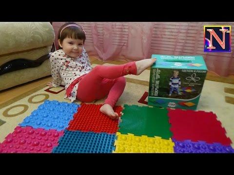 Массажный ортопедический коврик пазл для детей Упражнения для профилактики плоскостопия Massage Mat