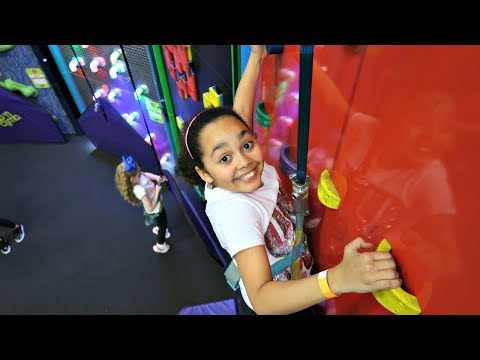 Indoor Playground For Kids! Wall Climbing Challenge   Toys AndMe
