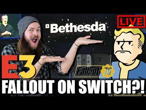 BETHESDA E3 2018 EVENT LIVE REACTION STREAM! FALLOUT 76! - BETHESDA E3 2018 LIVE REACTION STREAM!