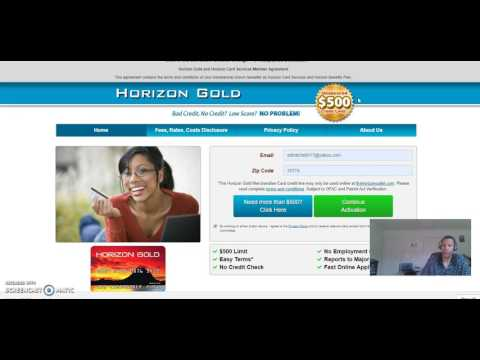 horizon gold card guaranteed approval no credit check or inquiry