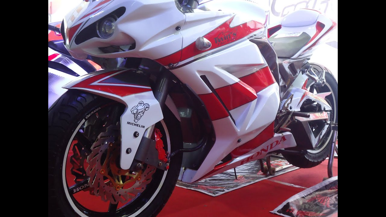 Moge Look Modifikasi Vixion Lightning Full Fairing Sporty