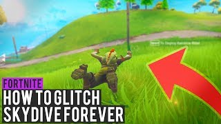 *NEW* BEST SKYDIVE GLITCH FOR HIDING *WORKING MARCH 2018* - Fortnite: Battle Royale