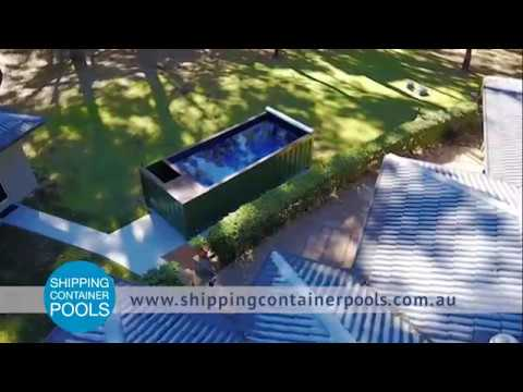 shipping container pool get ready for summer youtube. Black Bedroom Furniture Sets. Home Design Ideas