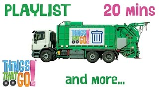 Garbage Truck And More | Truck Videos For Kids. Preschool & Kindergarten Learning.