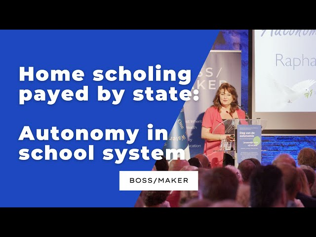 BOSS/MAKER: Home scholing payed by state: autonomy in school system (Dutch spoken with subtitles)