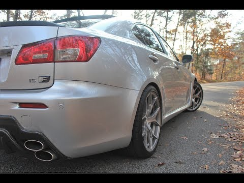 2008 Lexus IS-F Exhaust Clips! ANGRY V8 GROWLS - Start up, rev, & drive by!