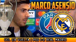PSG 1-2 Real Madrid zona mixta de MARCO ASENSIO   Champions League (06/03/2018)