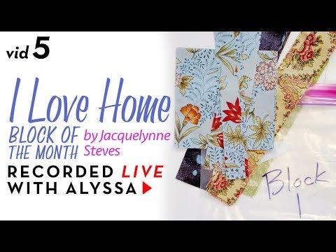 "Organizing fabric per block - Vid 5 ""I Love Home"" BOM - Designer Series #RelaxAndCraft"