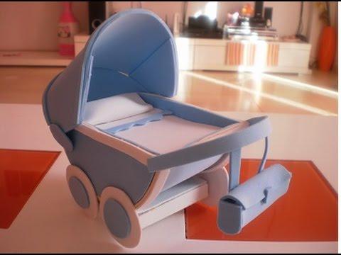 Como hacer un carrito de bebe de goma eva 1 parte youtube for Carritos con ruedas para cocina
