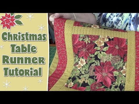 Easy Quilted Christmas Table Runner Alanda Craft