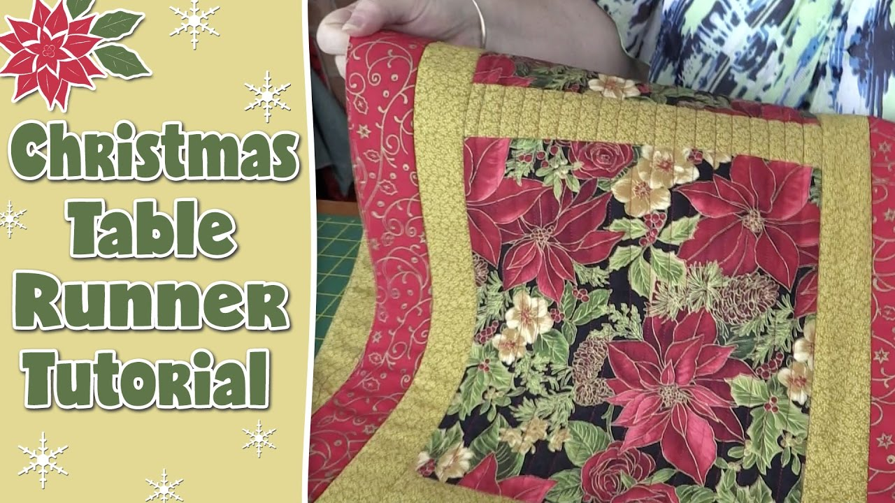Christmas Table Runner Quilt.Christmas Table Runner Quilting Tutorial
