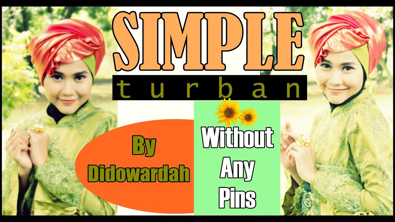 Simple Turban Pashmina Hijab Tutorial Without Any Pins 56 YouTube