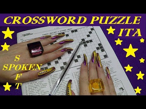 ASMR (ITA) - CROSSWORD NR. 3 - SOFT SPOKEN AND CHEWING GUM + LONG NAILS
