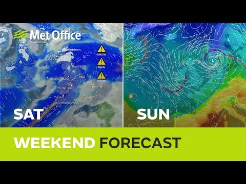 Weekend weather – Snow for some this weekend and more rain and strong wind 14/03/19
