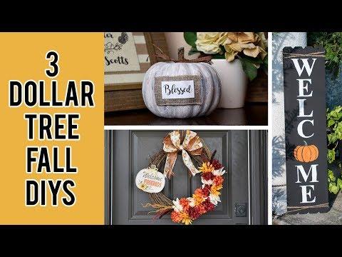 3 DOLLAR TREE FALL ROOM DECOR DIYS 2019