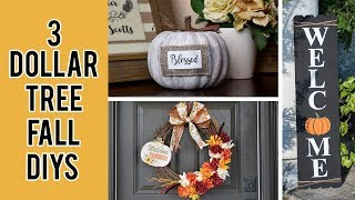 3 DOLLAR TREE FALL ROOM DECOR DIYS 2019