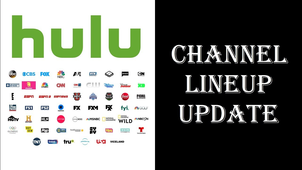 hulu with live tv - channel lineup & top channels you don't get