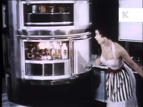 1950s Housewife in Futuristic Kitchen of Tomorrow - YouTube