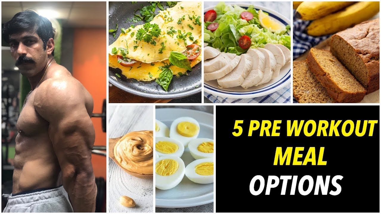 5 EASY PRE WORKOUT MEAL OPTIONS | RUBAL DHANKAR