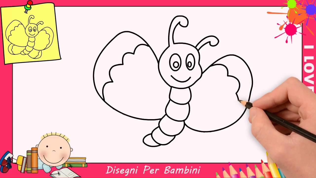 Come Disegnare Una Farfalla Facile Passo Per Passo Per Bambini 4