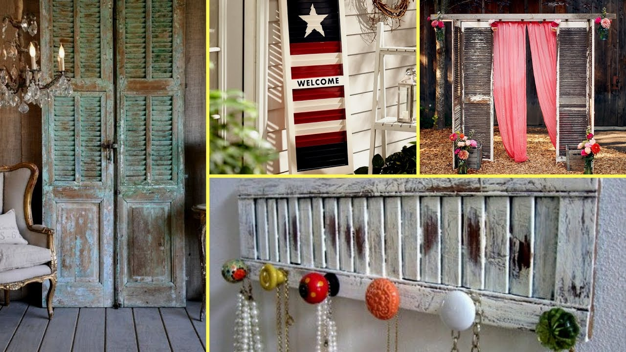 DIY Shabby Chic Shutter Decorating Ideas-farmhouse Style