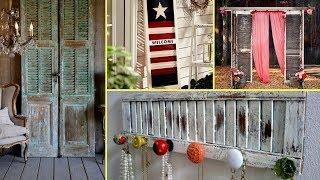 ❤ DIY Shabby chic shutter decorating ideas-farmhouse style / Interior Design// Flamingo  mango//❤
