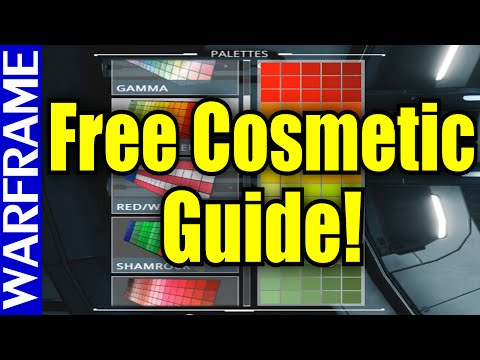 Ultimate Free Cosmetics Guide! How to Customize Your Warframe for Free! [1080HD]