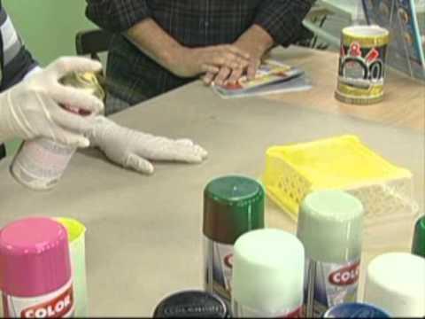 Colorgin no ateli na tv pintura de cestinho pl stico com jamille weindler youtube - Pintura para plastico ...