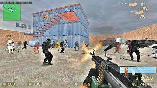 CSS : Zombie Hunting Mod gameplay on zm_Lila_Panic - Unloze Server