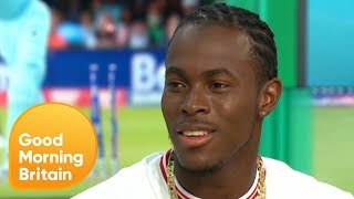 Cricketer Jofra Archer Bowls for Piers Morgan | Good Morning Britain