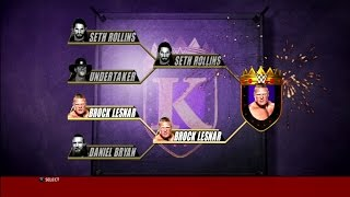 WWE 2K16 King Of The Ring Block Lesnar Win
